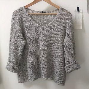 Eileen Fisher cotton pullover spring sweater | xl